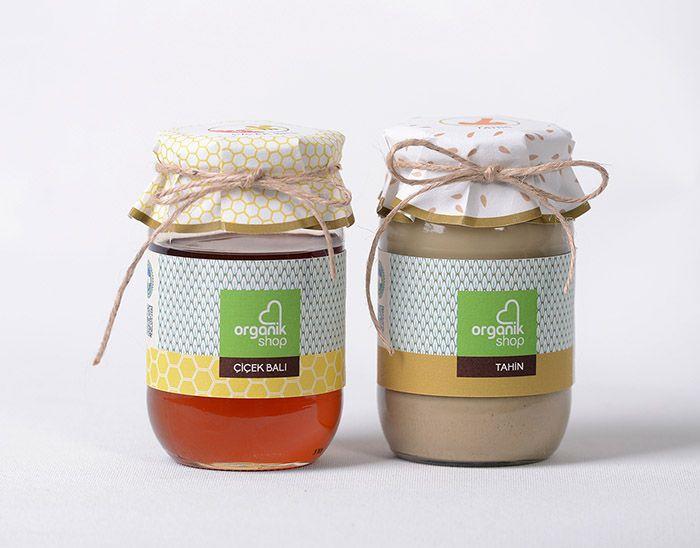 Organikshop Cafe Shops Packaging Design Inspiration