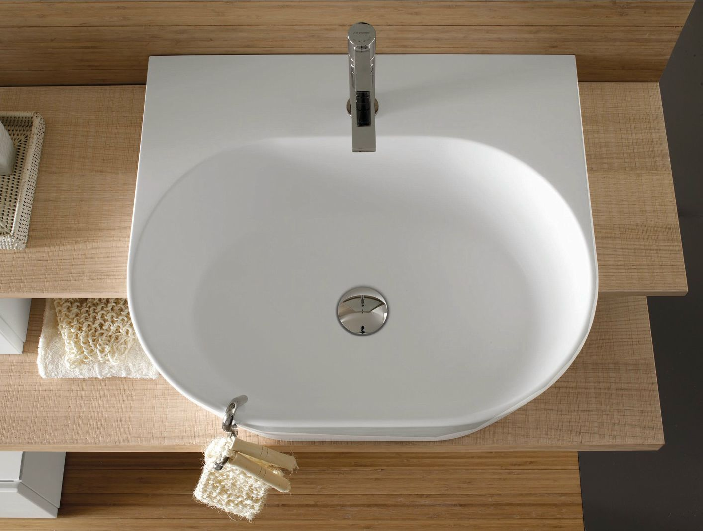 Comp c 01 cm 280 x 52 top rovere ecru laccato bianco - Gaivi arredo bagno ...