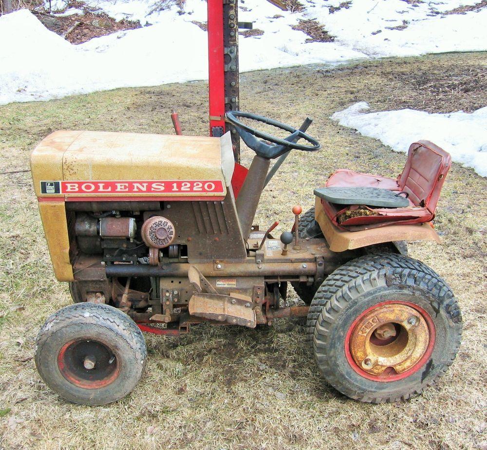 Vintage Bolens Husky 1220 Garden Tractor Used Tractors Garden