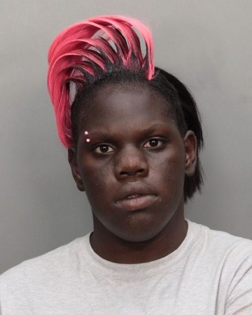 Haha Hilarious Funny African American Pink Hair Weird