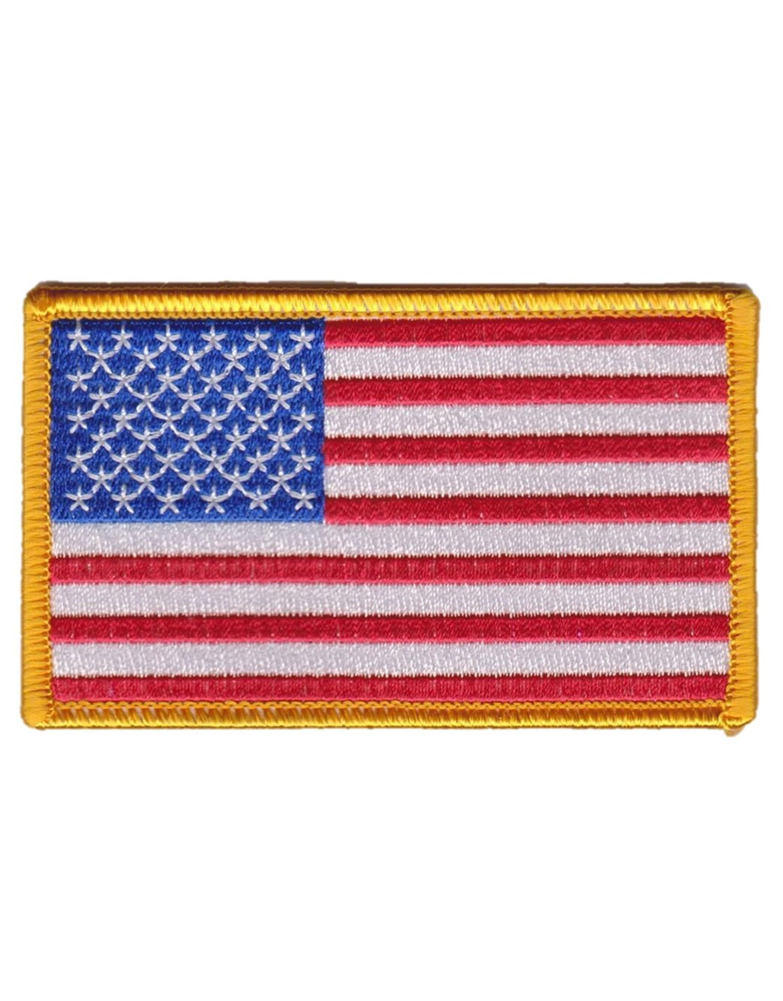 Usa American Flag Patch Army Military Badge Gold Border Royal Blue Patch Forward American Flag Patch Flag Patches American Flag