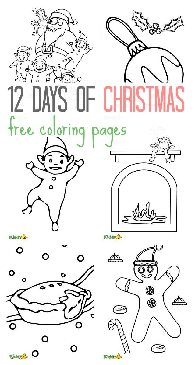 12 free Christmas colouring pages for the kids | Xmas