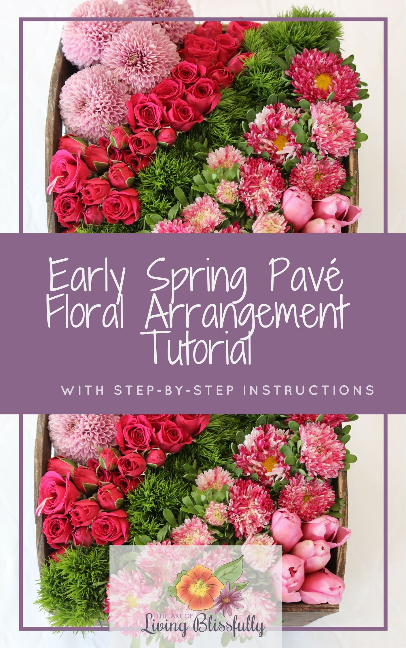 Diy Floral Arrangement Tutorial With Step By Step Instructions