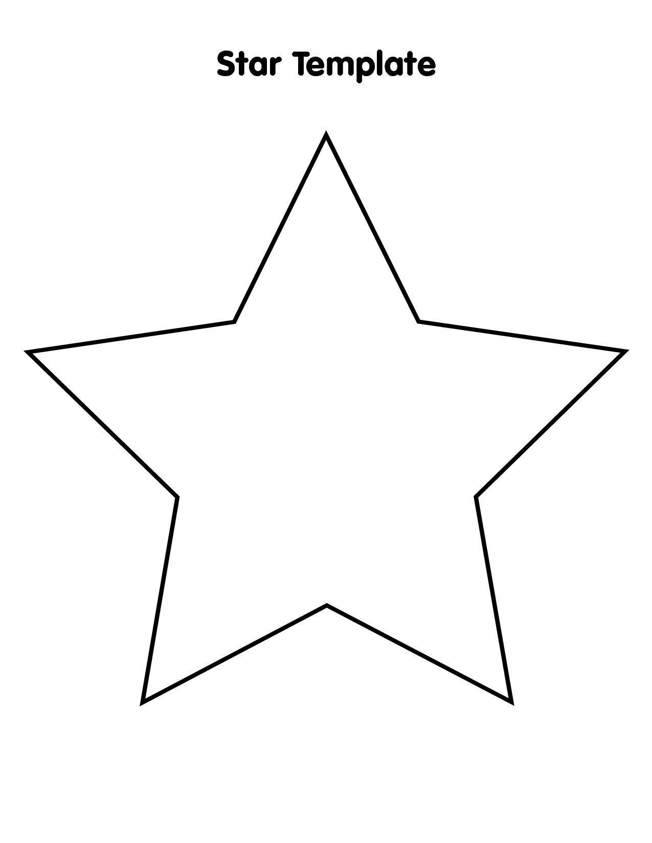 It is a photo of Challenger Star Stencil Printable