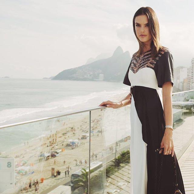 Alessandra Ambrosio at Louis Vuitton show in Rio de Janeiro - Taking over @louisvuitton #snapchat  LVLive #LVcruise #riodejaneiro @nicolasghesquiere  @eduardobravin