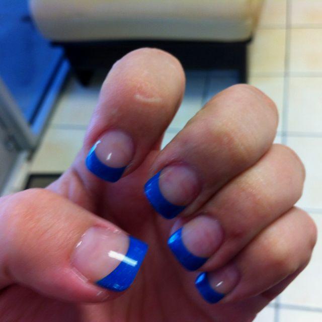 Blue acrylic tips