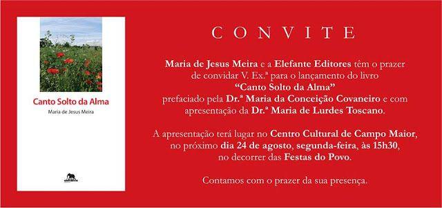 Campomaiornews: Maria de Jesus Meira apresenta livro Canto Solto d...