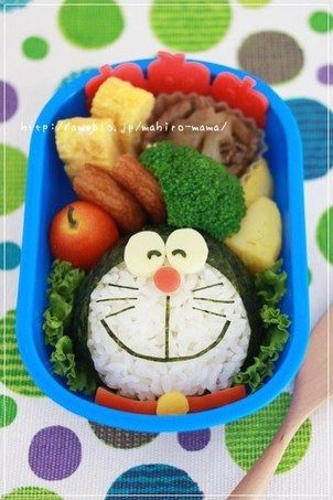 easy charaben doraemon with nori seaweed recipe by cookpad japan recipe bento kids bento box recipes bento box kids