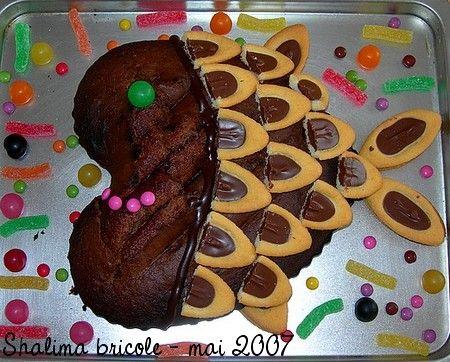 gâteau anniversaire rigolo poisson | gâteaux 3d | pinterest
