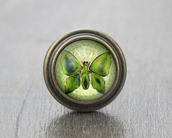 Butterfly Vintage Antique Bronze Dresser Knobs by jade4wood ...