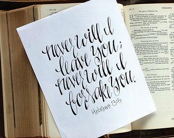 Custom Handwritten Hand Lettering Calligraphy Bible