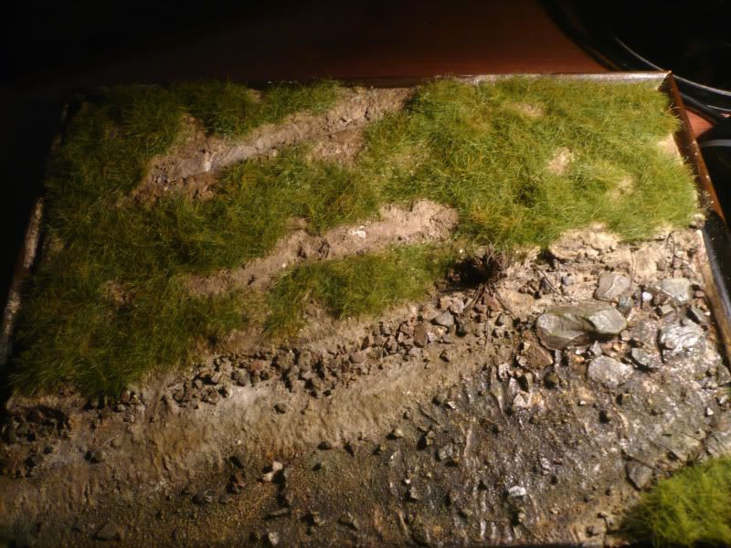 Armorama Using Celluclay and attaching dirt and Grass