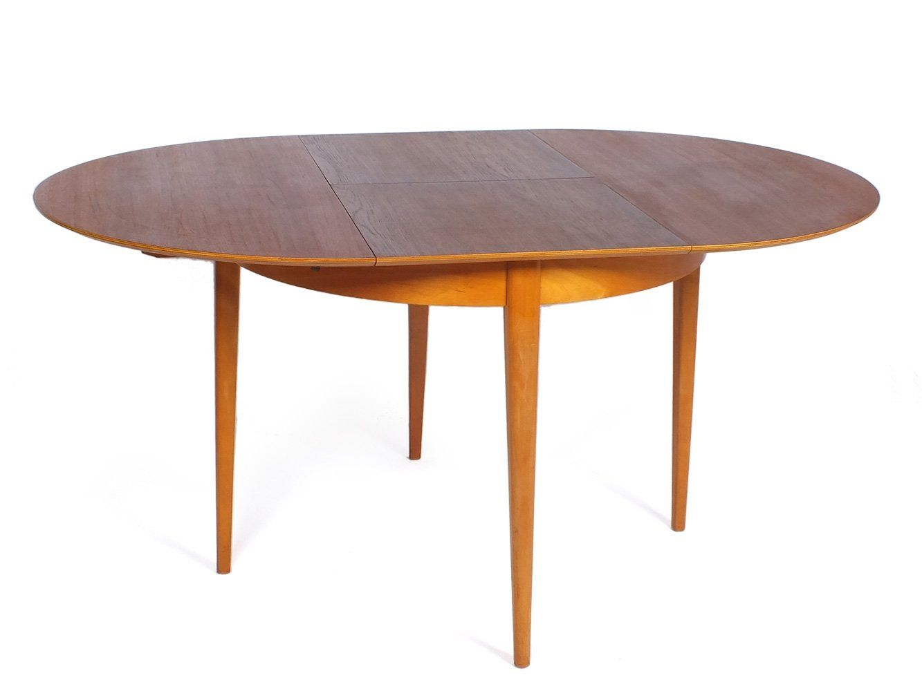 For Sale Tb35 Extendable Round Teak Oak Table By Cees Braakman For Ums Pastoe Table Oak Table Table Design