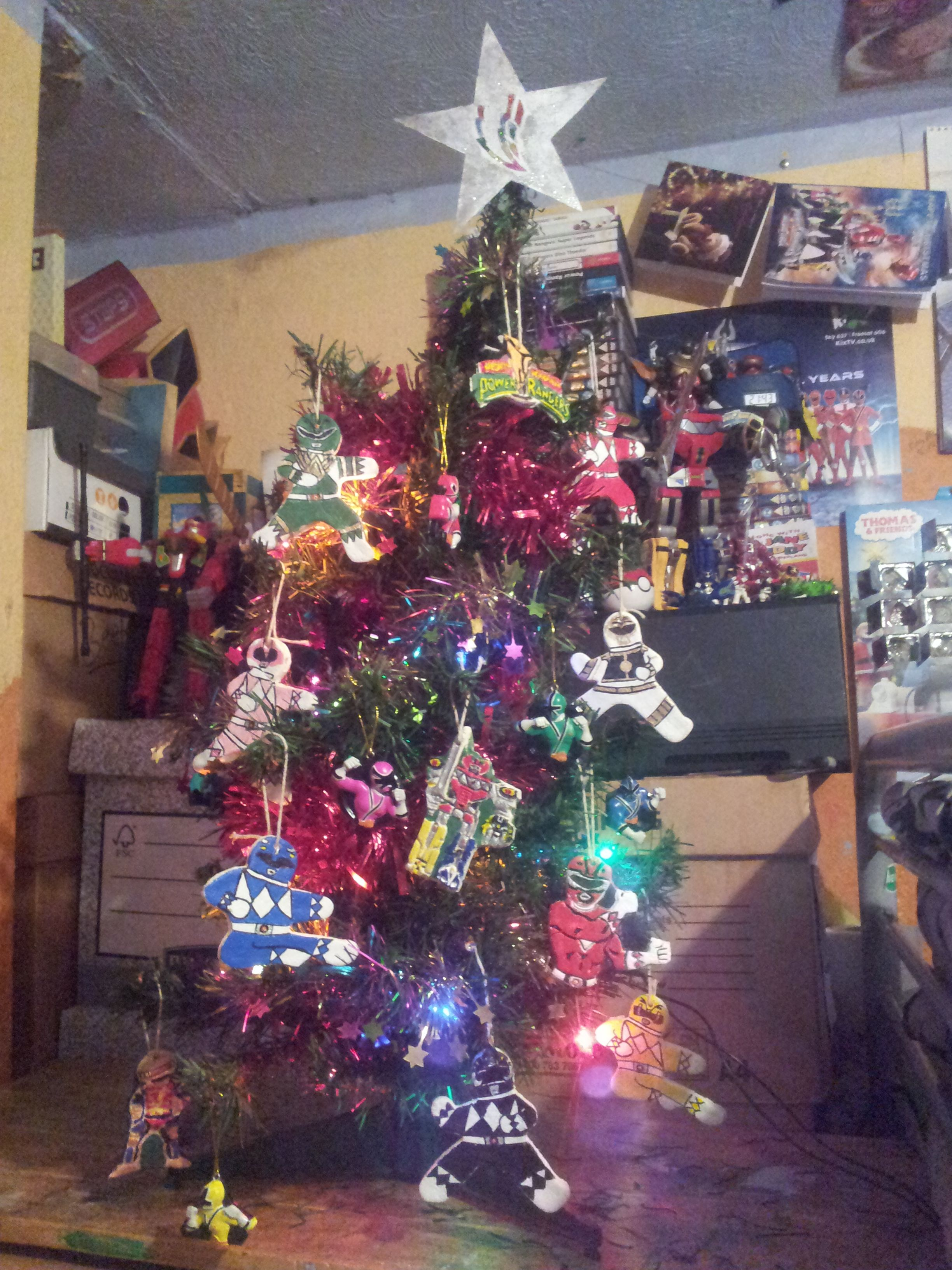 Power Rangers Christmas Tree.My Power Rangers Christmas Tree From 2014 D X Oh