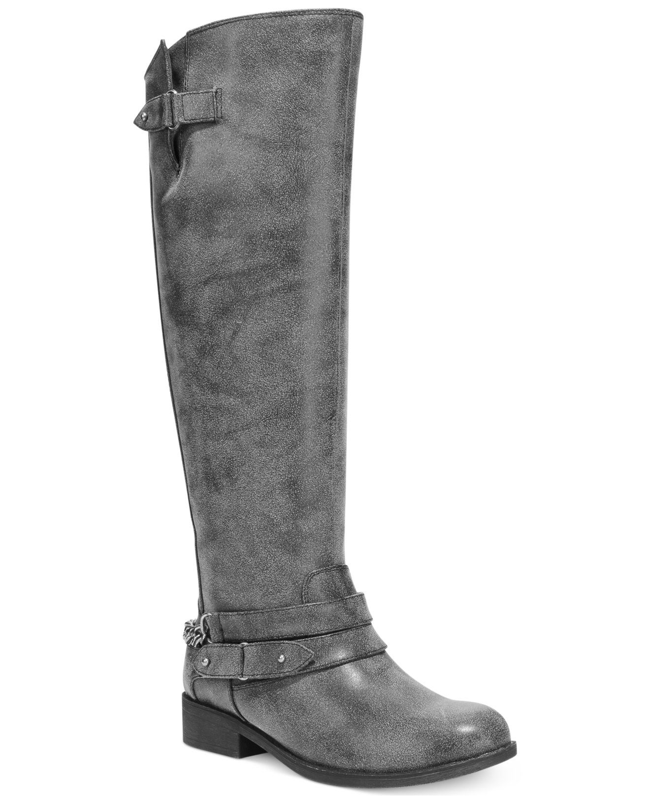 4c80167d62c7 Madden Girl Caanyon Tall Shaft Wide Calf Riding Boots - Juniors  Shoes -  Shoes - Macy s
