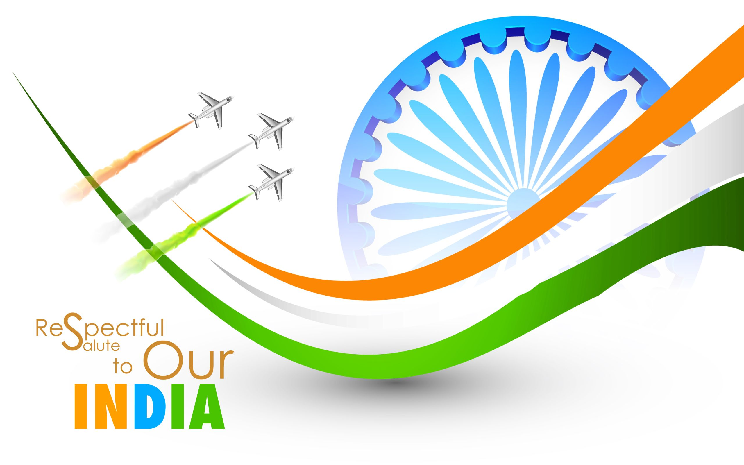 Tricolors Of Indian Flag Hd Wallpaper Independence Day 15th