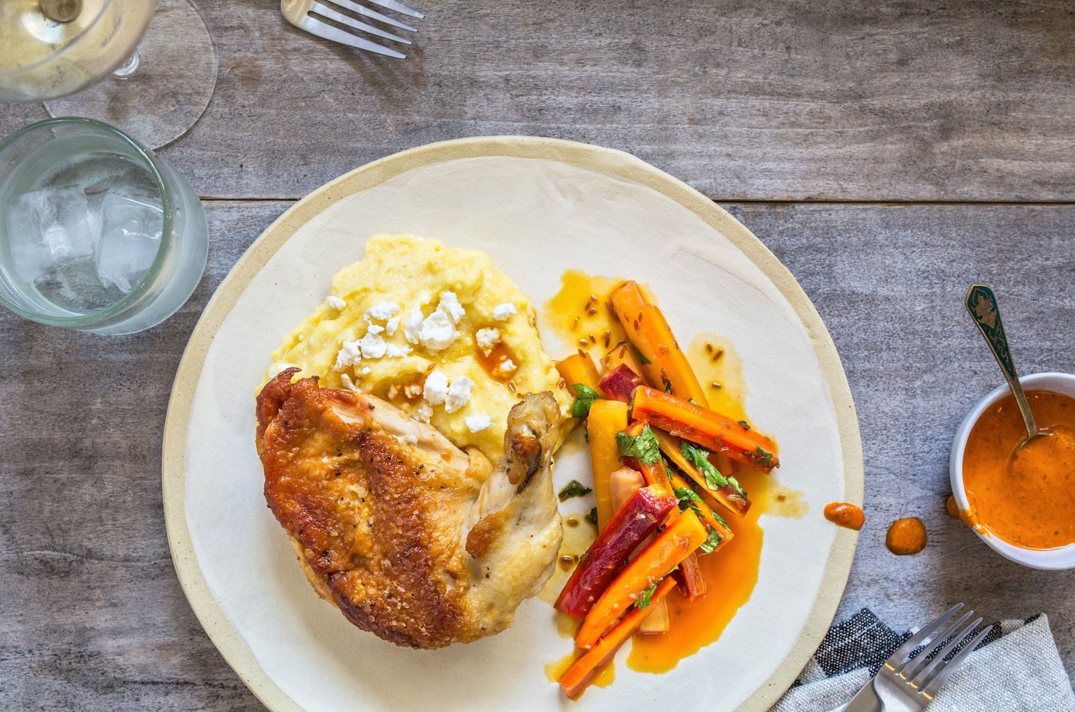 Pan Roasted Mary's Chicken on Munchery Healthy prepared