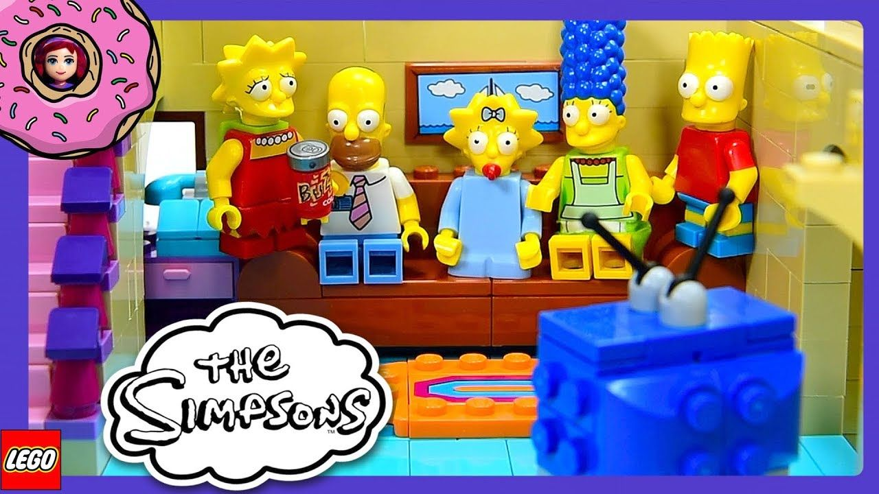 The Simpsons House Lego Build Car Garage And Ground Floor Review