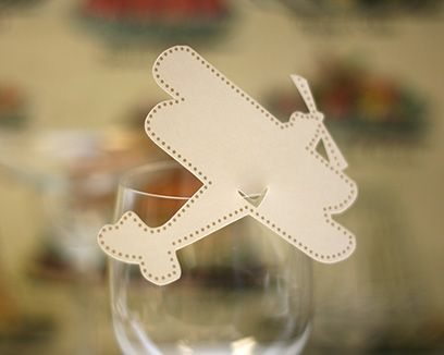 Biplane Place Cards