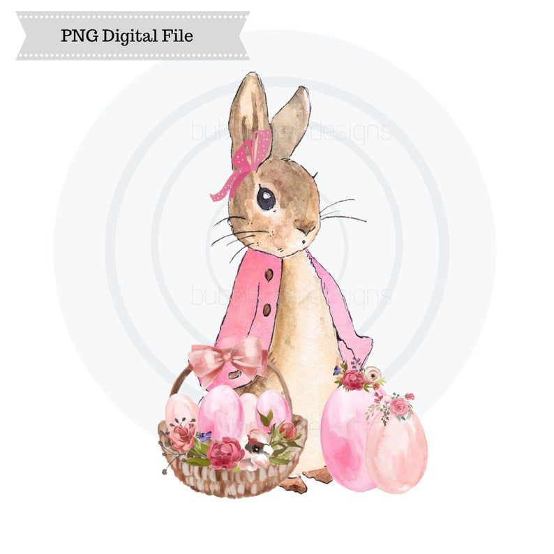 Peter Rabbit Pink Flopsy Bunny Easter Png Sublimation Design Etsy Peter Rabbit And Friends Rabbit Illustration Peter Rabbit Illustration
