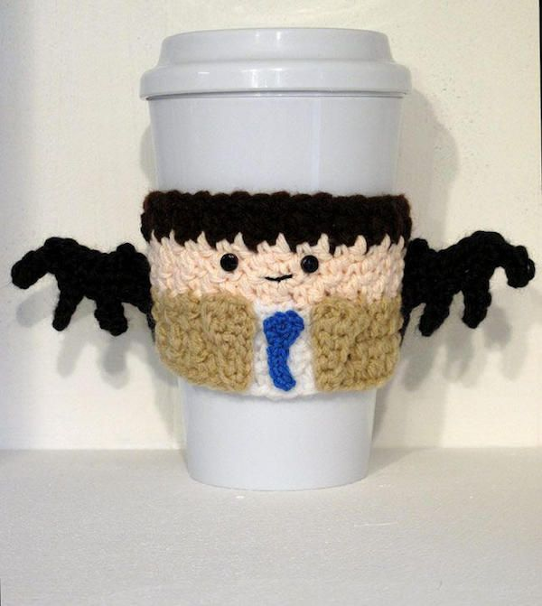 These Crochet Character Coffee Cup Cozies Are The Cutest Coffee Cup Cozy Cup Cozy Pattern Cup Cozy