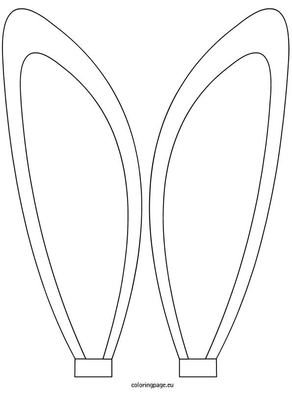 Bunny ears coloring sheet | Bunny ears template