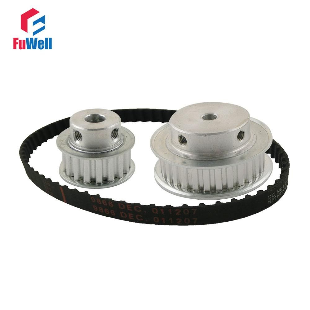 Xl Reduction Ratio 12 21 15teeth 30teeth Timing Pulley Gear Kit Belt Set Shaft Center Distance 100mm 124xl