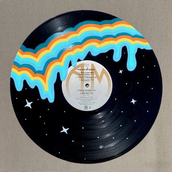 drippy drip painted record hand painted vinyl records on best wall color for artwork id=22802