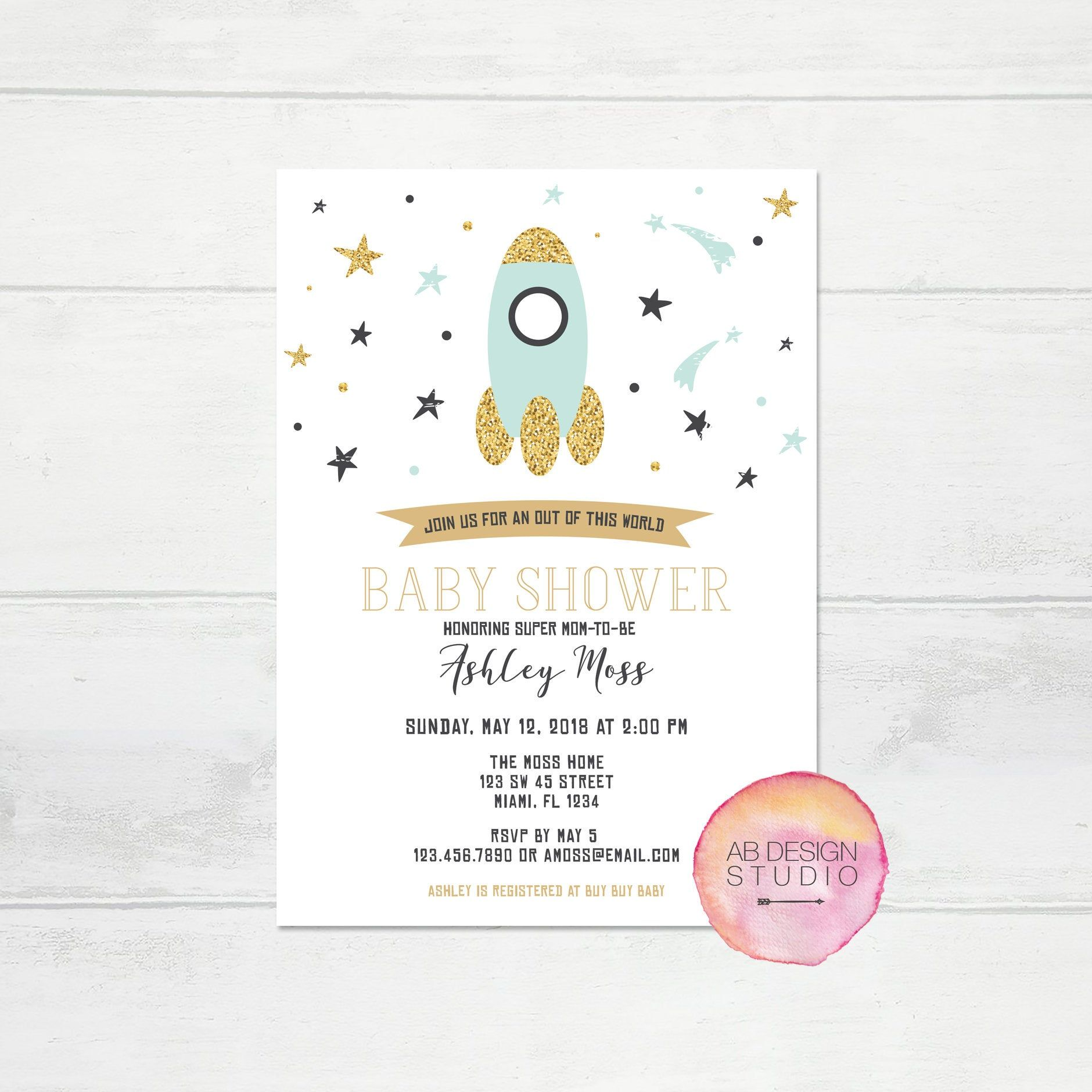 Free Printable Editable Pdf Baby Shower Invitation Diy Elegant Vintage Watercolor Flowers Instant Download Edit In Adobe Reader Instant Download Printab Free Baby Shower Invitations Baby Shower