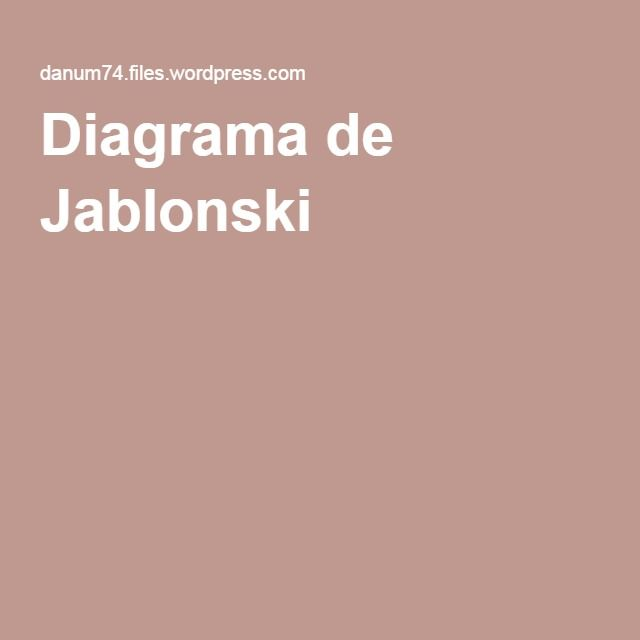 Diagrama de jablonski materials science pinterest materials diagrama de jablonski ccuart Image collections