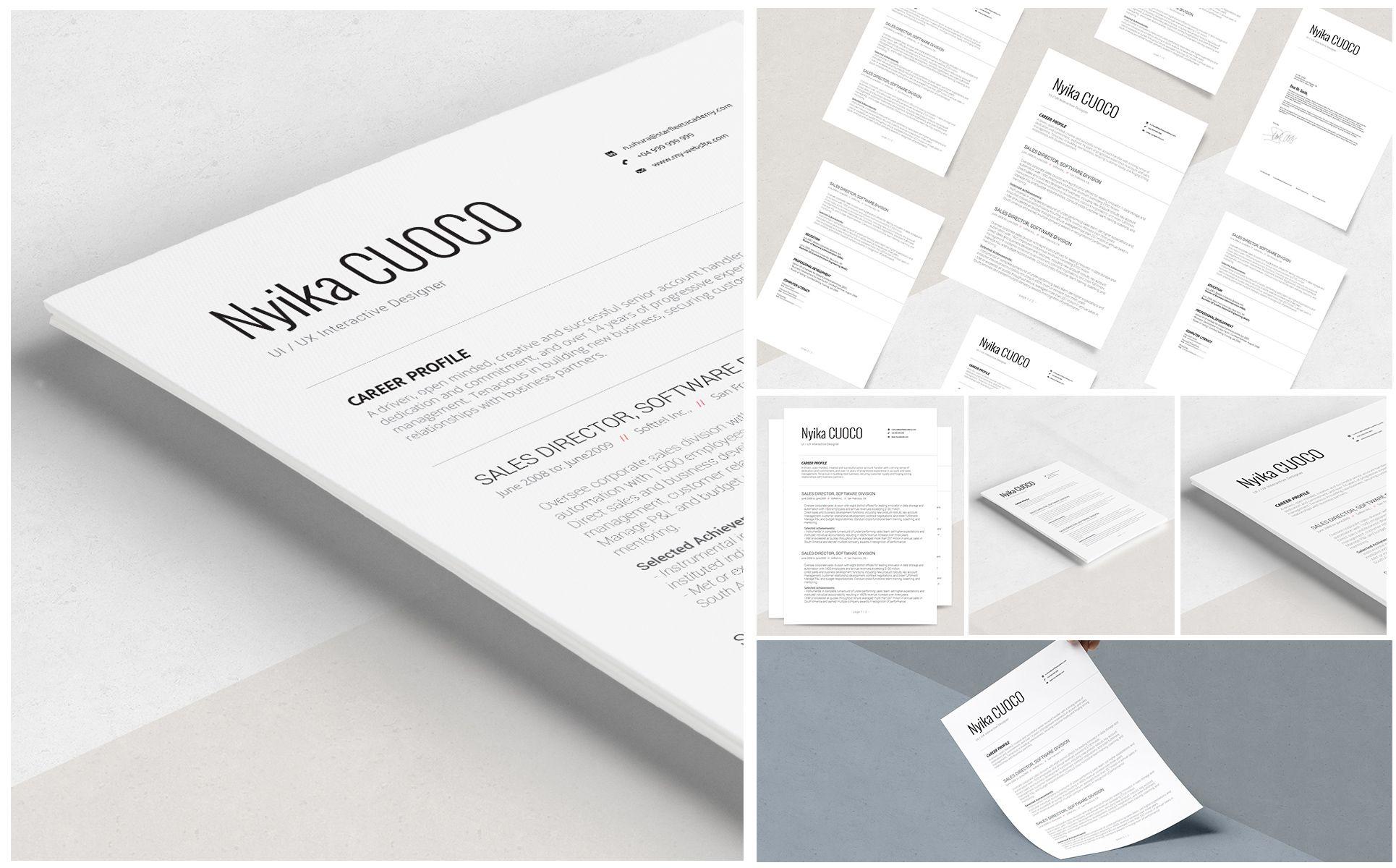 Nyika Resume Template 69185 Resume template, Resume