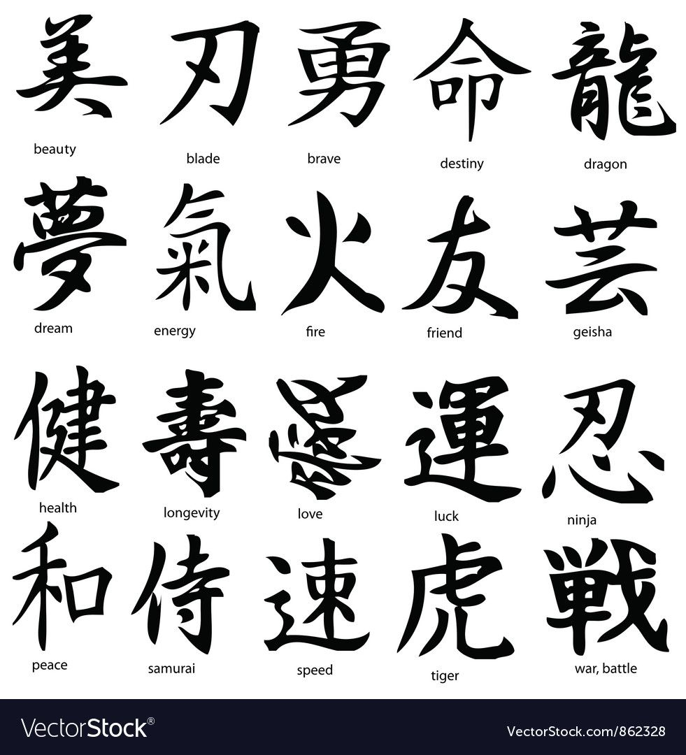 Kanji Vector Image On (With Images)