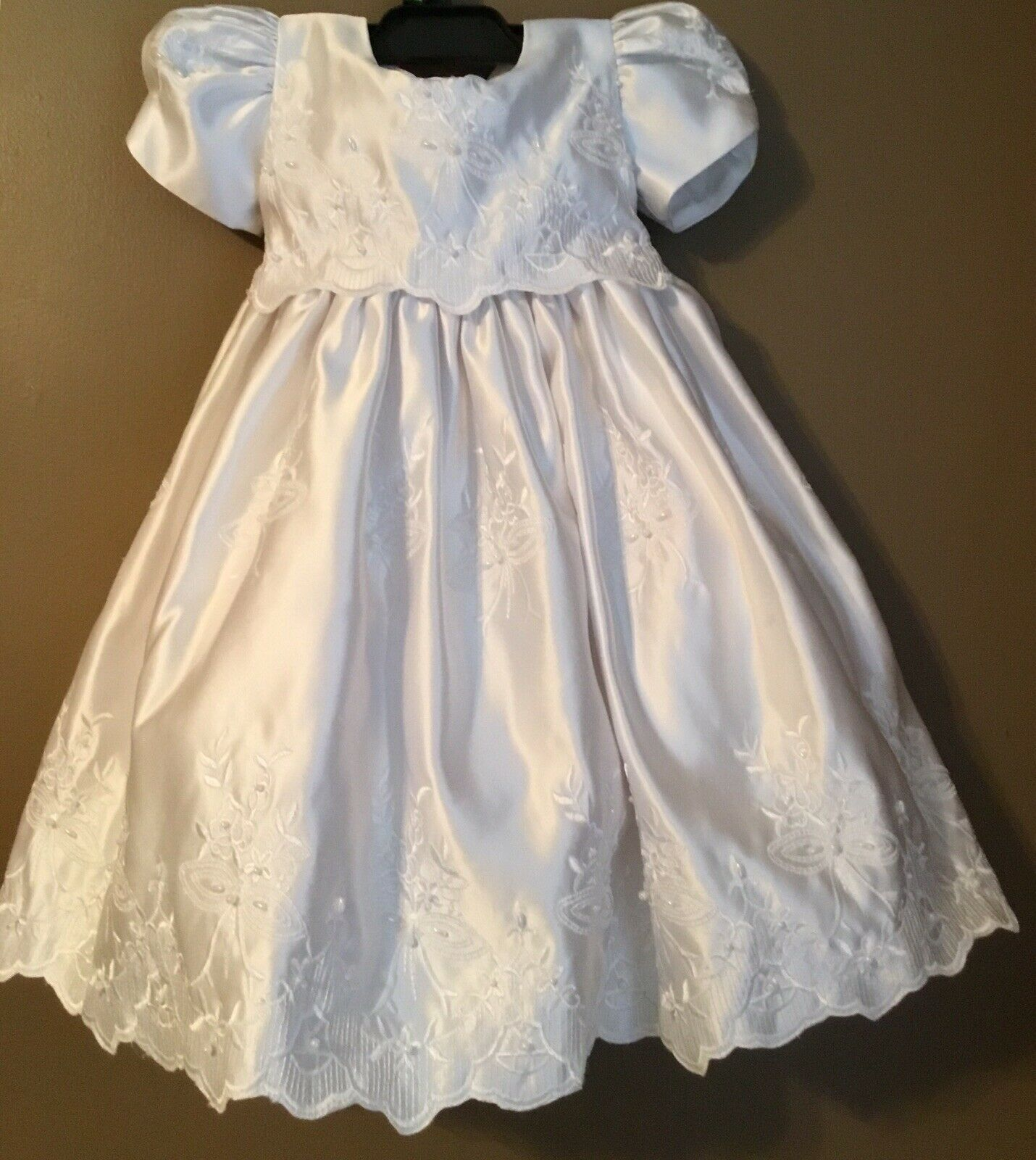 New index Baby Girls  Christening Baptism Wedding Formal  Princess Dress 0-24M