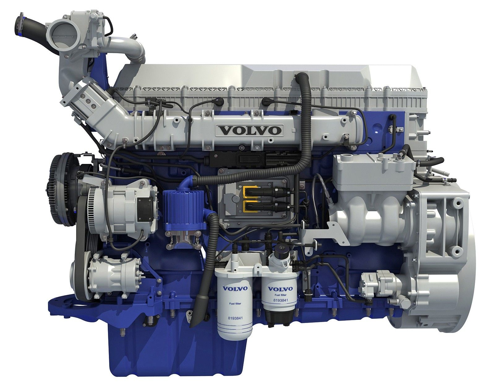 2017 Volvo Powertrain D13 Engine 3d Model