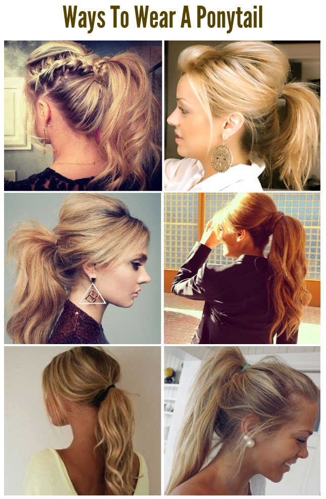 6 Cute Simple Ways To Wear A Ponytail Hair Styles Long Hair Styles Ponytail Hairstyles