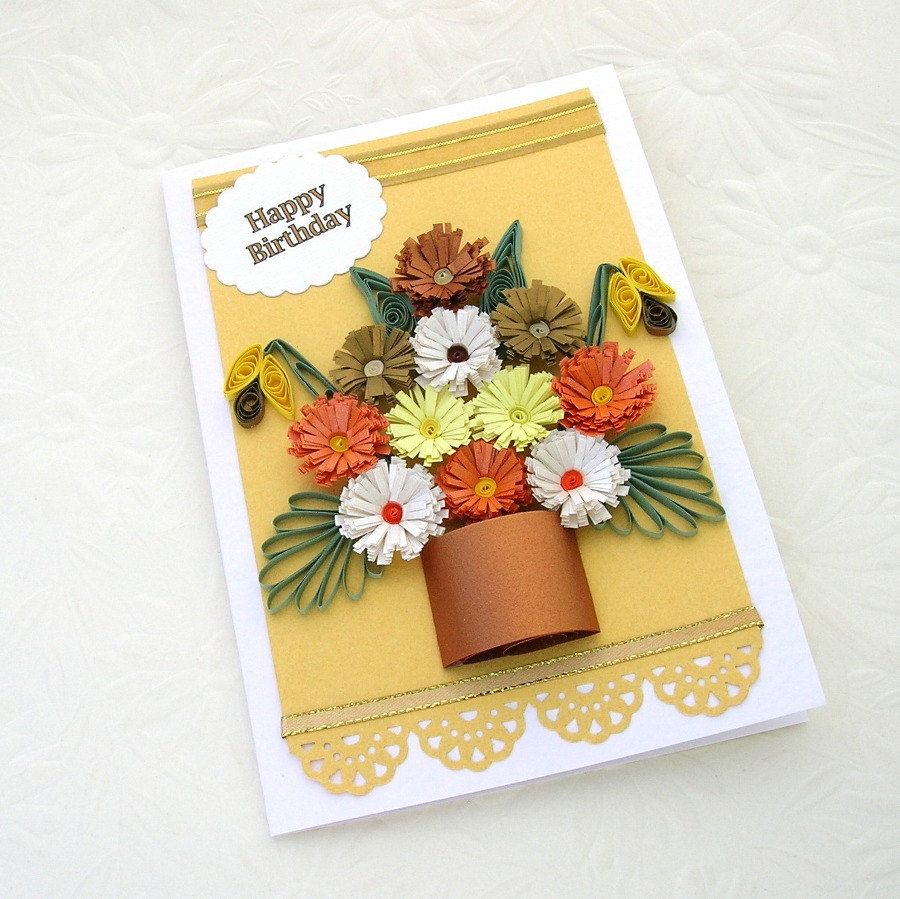 Объемная открытка на день учителя своими руками с цветами