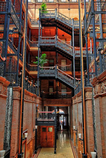 The Bradbury Building Located In Downtown Los Angeles Is One Of The Oldest Commercial Buildings Bradbury Building Los Angeles Interior Design California Photos