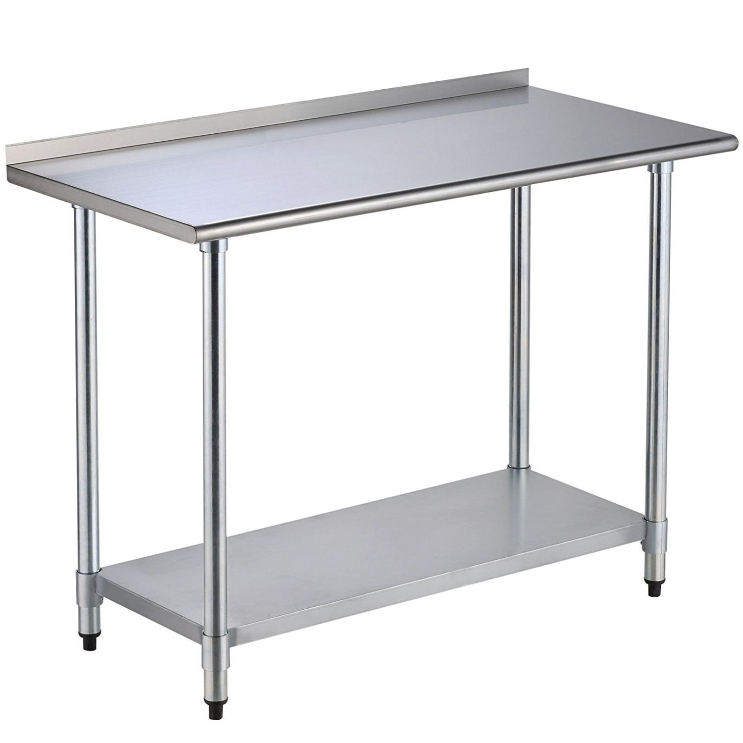 Amazon Com Uenjoy 24 X 48 Stainless Steel Work Prep Table With Backsplash Kitchen Stainless Steel Work Table Metal Restaurant