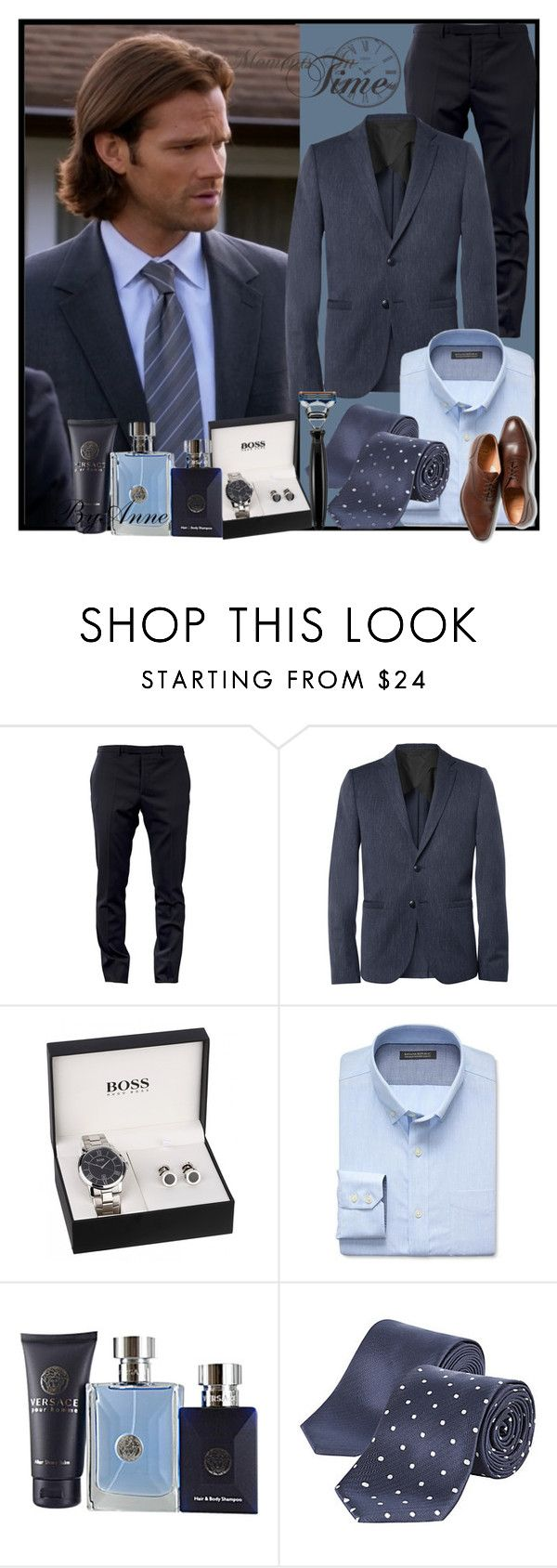 """Welcome December :)"" by anne-977 ❤ liked on Polyvore featuring moda, Dior Homme, Folk, Banana Republic, Versace y The Art of Shaving"