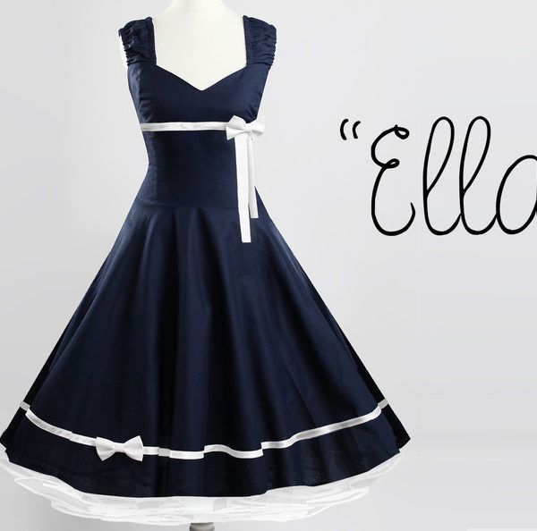 petticoat kleid dunkelblau 50er jahre nach maß with