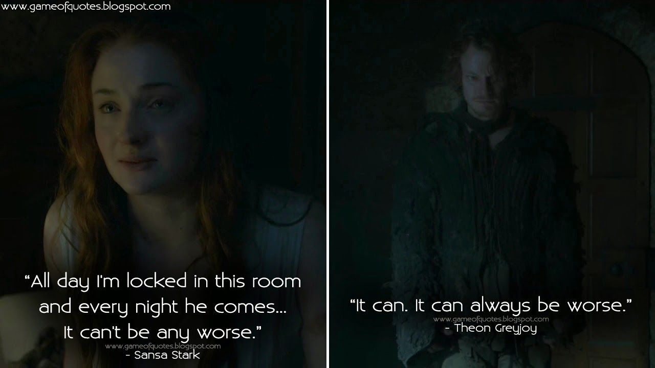 theon and sansa relationship problems
