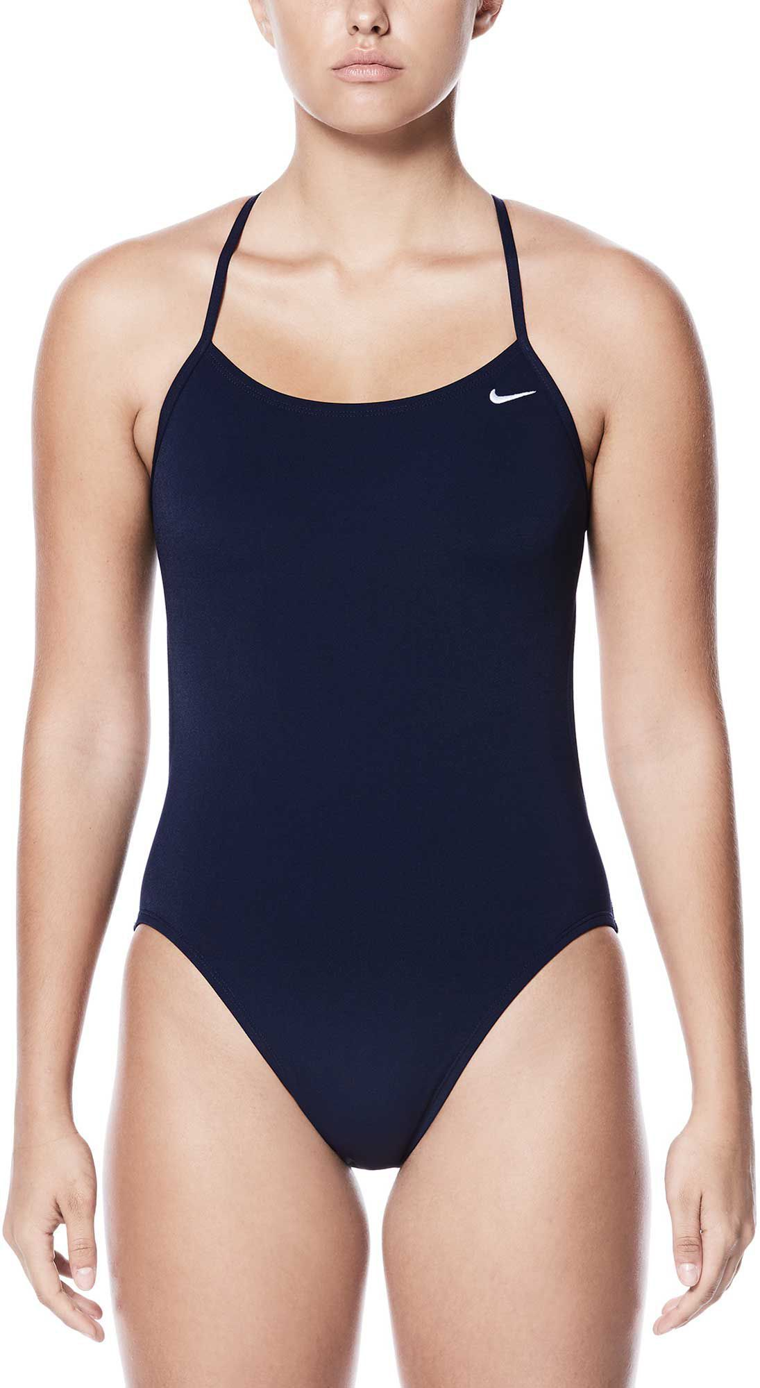 e0898ee9a Nike Women's Poly Core Solid Cut-Out Tank Swimsuit, Size: 20, Black ...