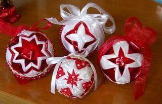 palline di polistirolo rivestite di stoffa