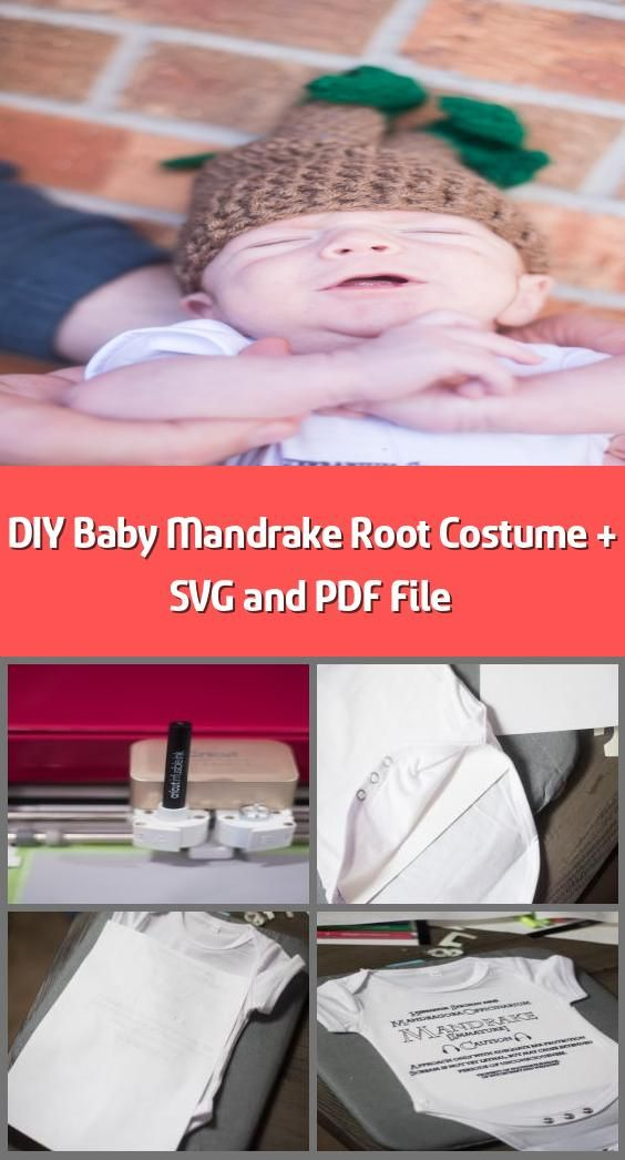 DIY Baby Mandrake Root Costume + SVG and PDF File - This ...