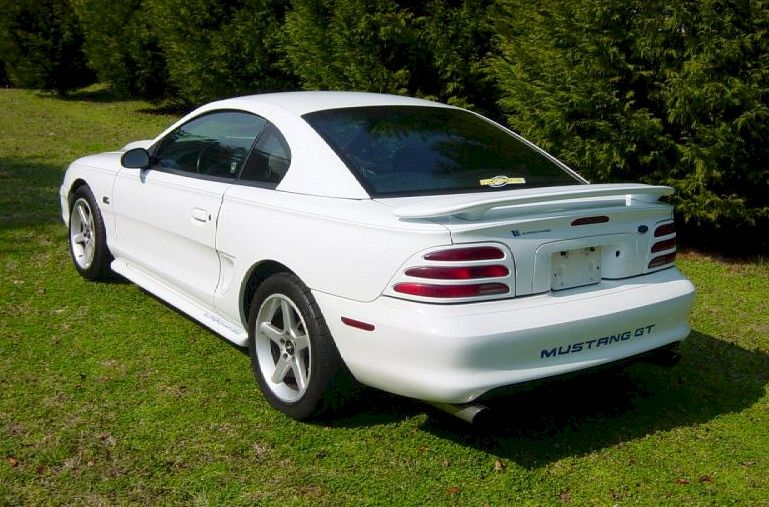 Crystal White 1994 Mustang Gt Coupe Mustang Gt Mustang Ford Gt
