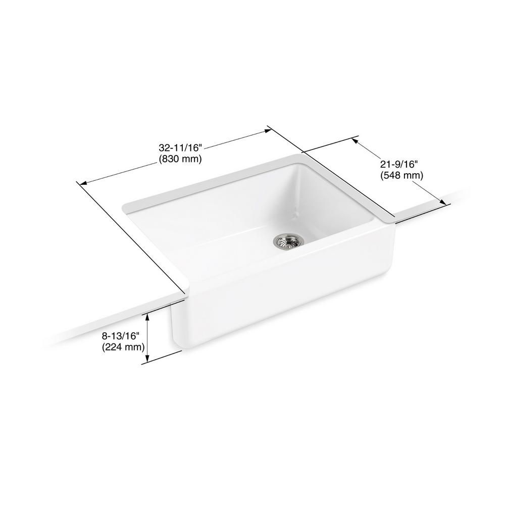 Kohler Whitehaven All In One Undermount Cast Iron 33 In Kitchen Sink In White With Faucet In Stainless Steel 2 Piece 5827 0 596 Vs The Home Depot Single Bowl Kitchen Sink Sink Apron Front Kitchen Sink