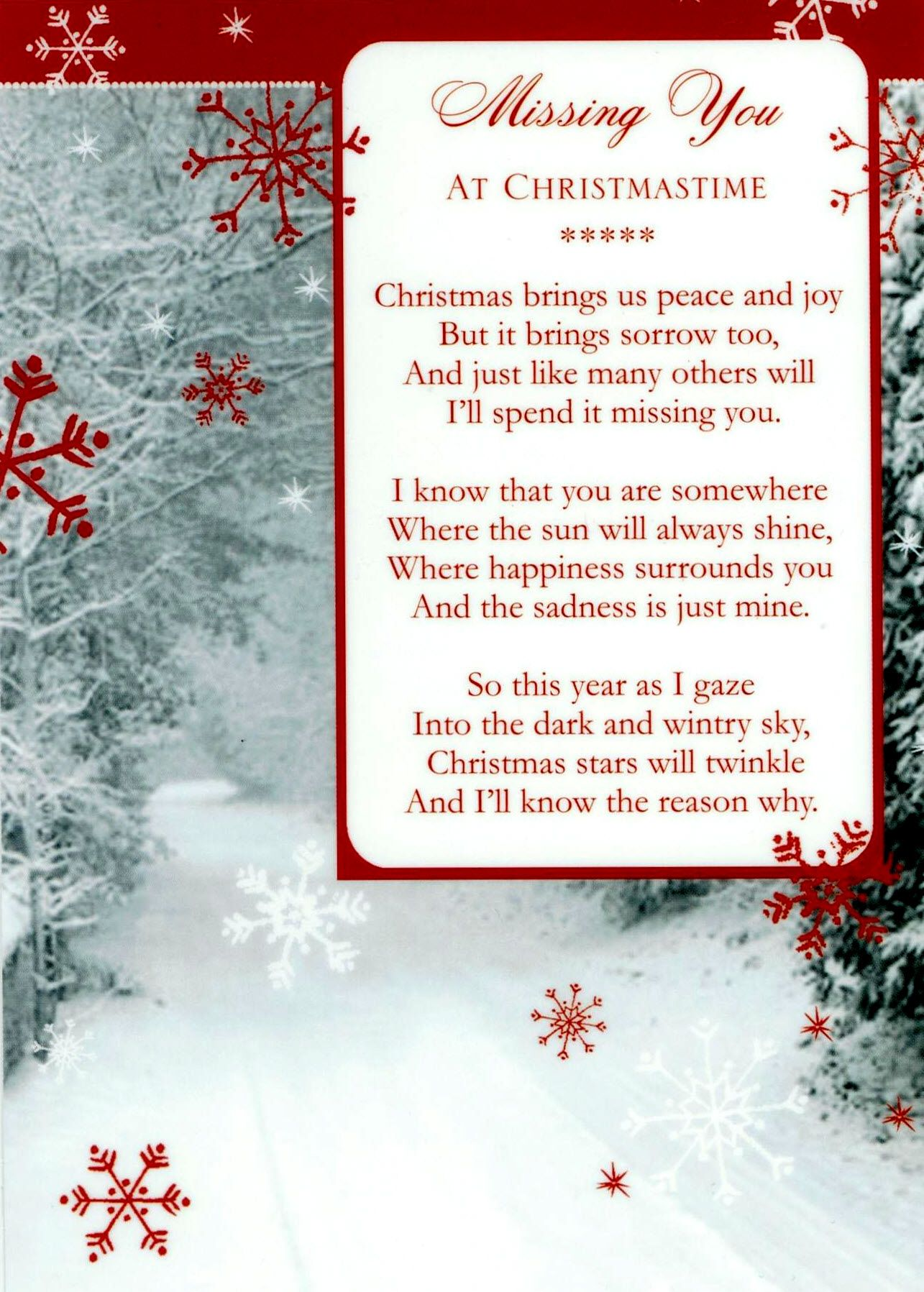 Missing You At Christmas Poems | Mom i miss you, I miss you ...