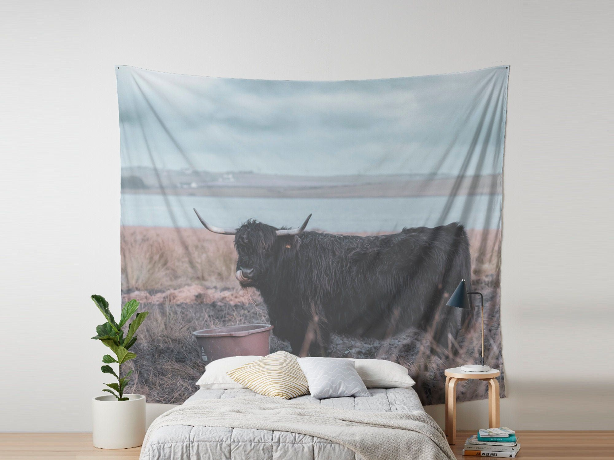 Scottish Cow Wall Tapestry Nursery Wall Hanging Scotland Etsy In 2020 Tapestry Wall Tapestry Natural Home Decor