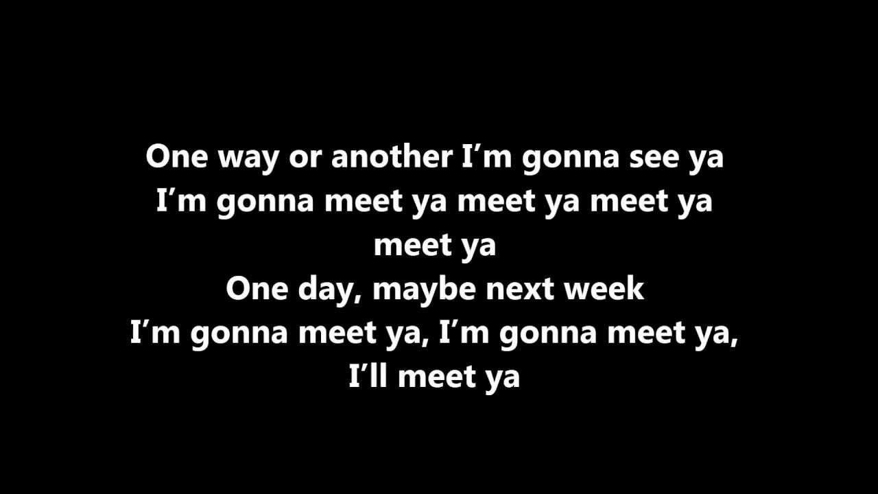 One Direction One Way Or Another Lyrics