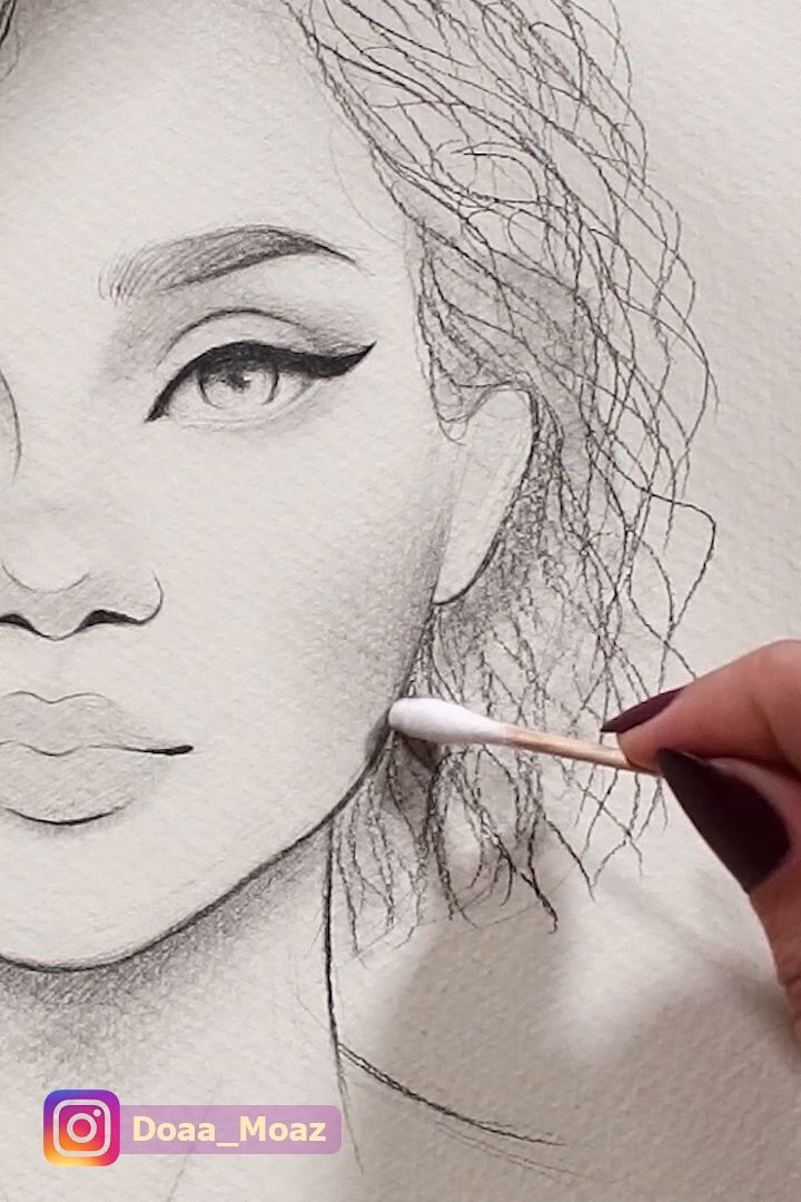 Photo of Drawing curly hair # curly # drawing,